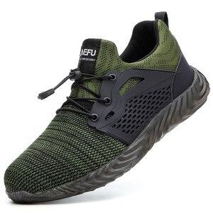 Drop Shippers Otoño Invierno nueva norma europea de punta de acero de trabajo zapatos de seguridad para los hombres de la moda de las mujeres casuales Indestructible zapatos