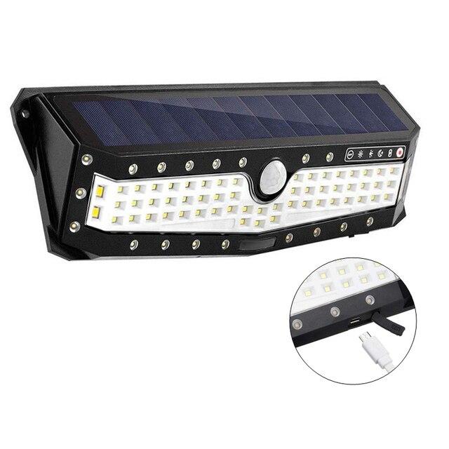 USB akumulator PIR Motion reflektory LED Motion lampa słoneczna zewnętrzna kinkiet Home Garden Yard chodnik bezpieczeństwo światła uliczne