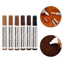 Wood Furniture Repair Pen Marker Pen Wax Filler Repair Fix Home Floor Scratches Off Paint Repair Pen Complementary Color Pen