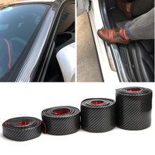 1M Car Door Edge Protection Carbon Fiber Rubber Moulding Strip Soft Black Trim Bumper Strip DIY Guard Car Stickers Car Styling 1pcs mgn12 l350mm linear rail 1pcs mgn12c