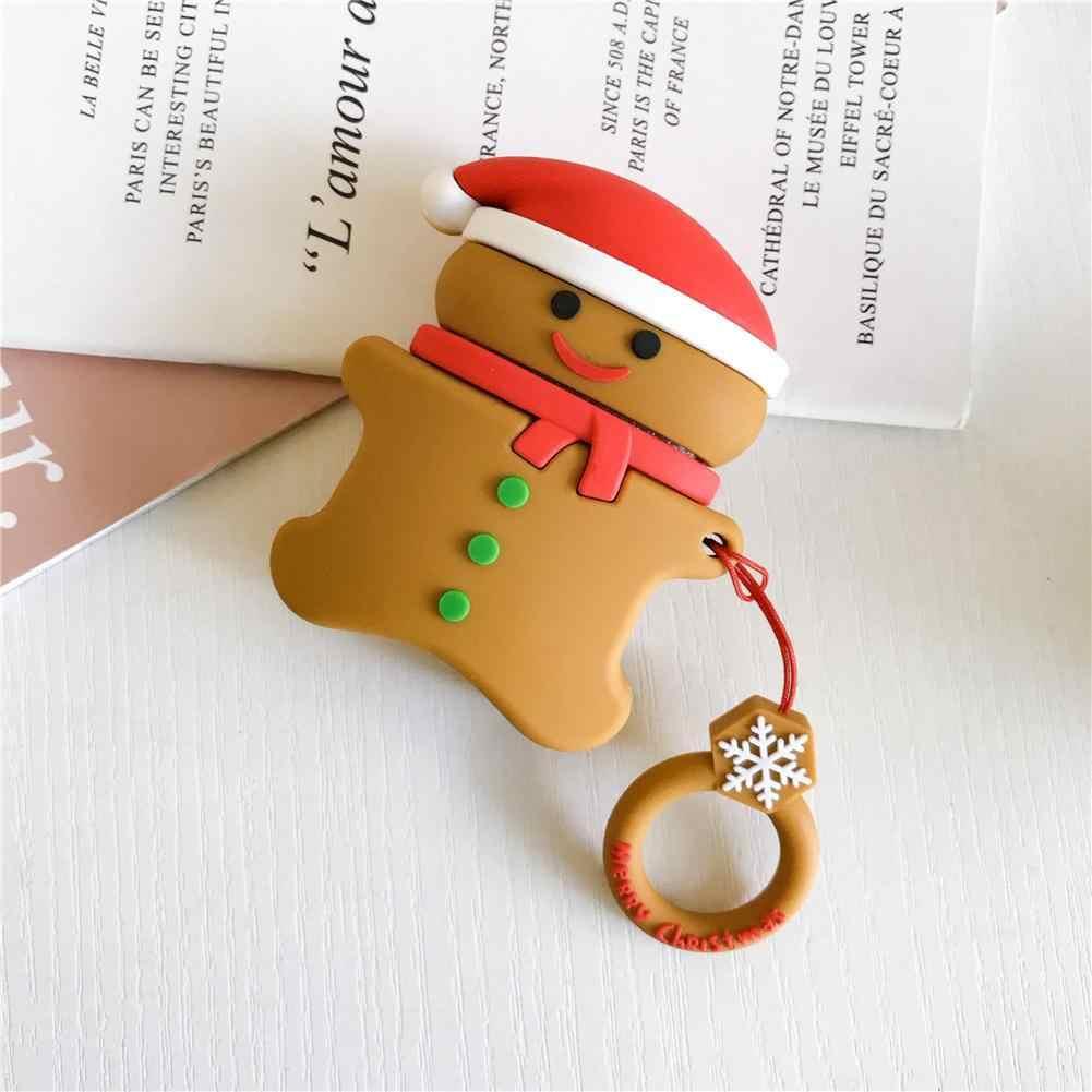 高品質漫画メリークリスマスカバー Airpods ためサンタシリコン保護ケース充電ボックス AirPods2 # N