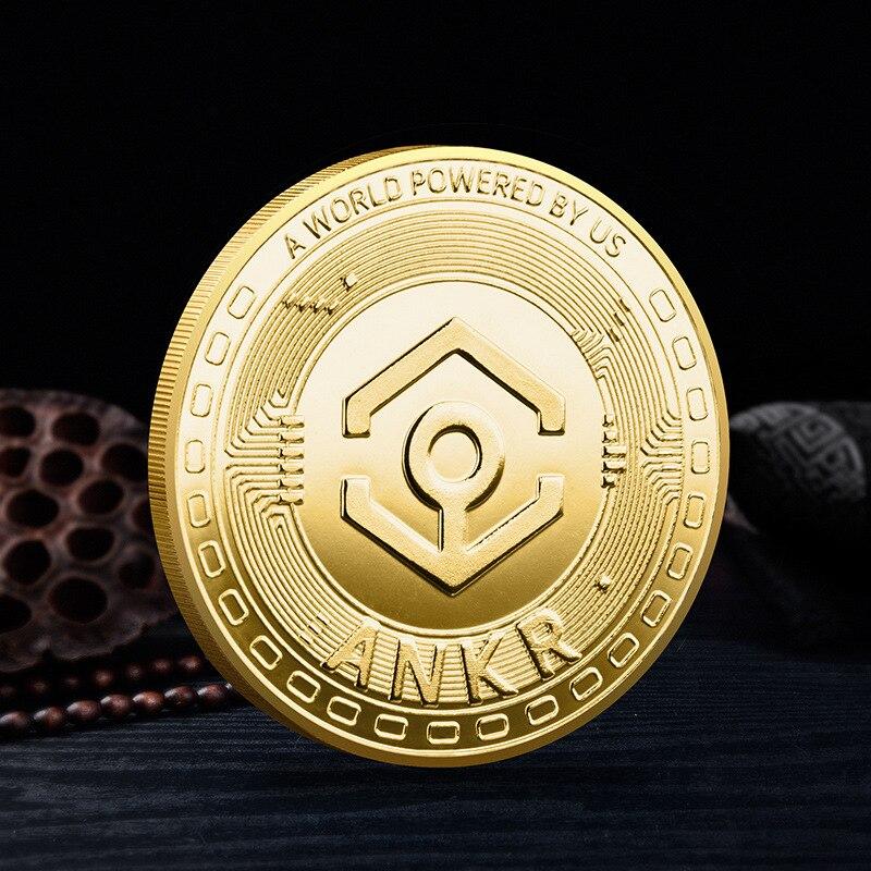 Анкр крипто монет криптовалюты коллекционная подарок монета коллекция физическое Позолоченные 1 шт. памятная монета