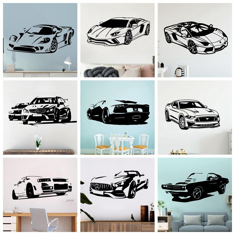 Modern Sport Car Vinyl Wall Sticker Cars Wall Decor For Living Room Decoration Bedroom Decor Home Wall Art Decals Wallpaper