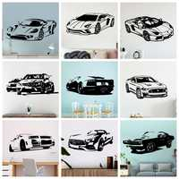 Modern Sport Car Vinyl Wall Sticker Cars Wall Decor For Living Room Decoration Bedroom Decor Home Wall Art Decals Wallpaper