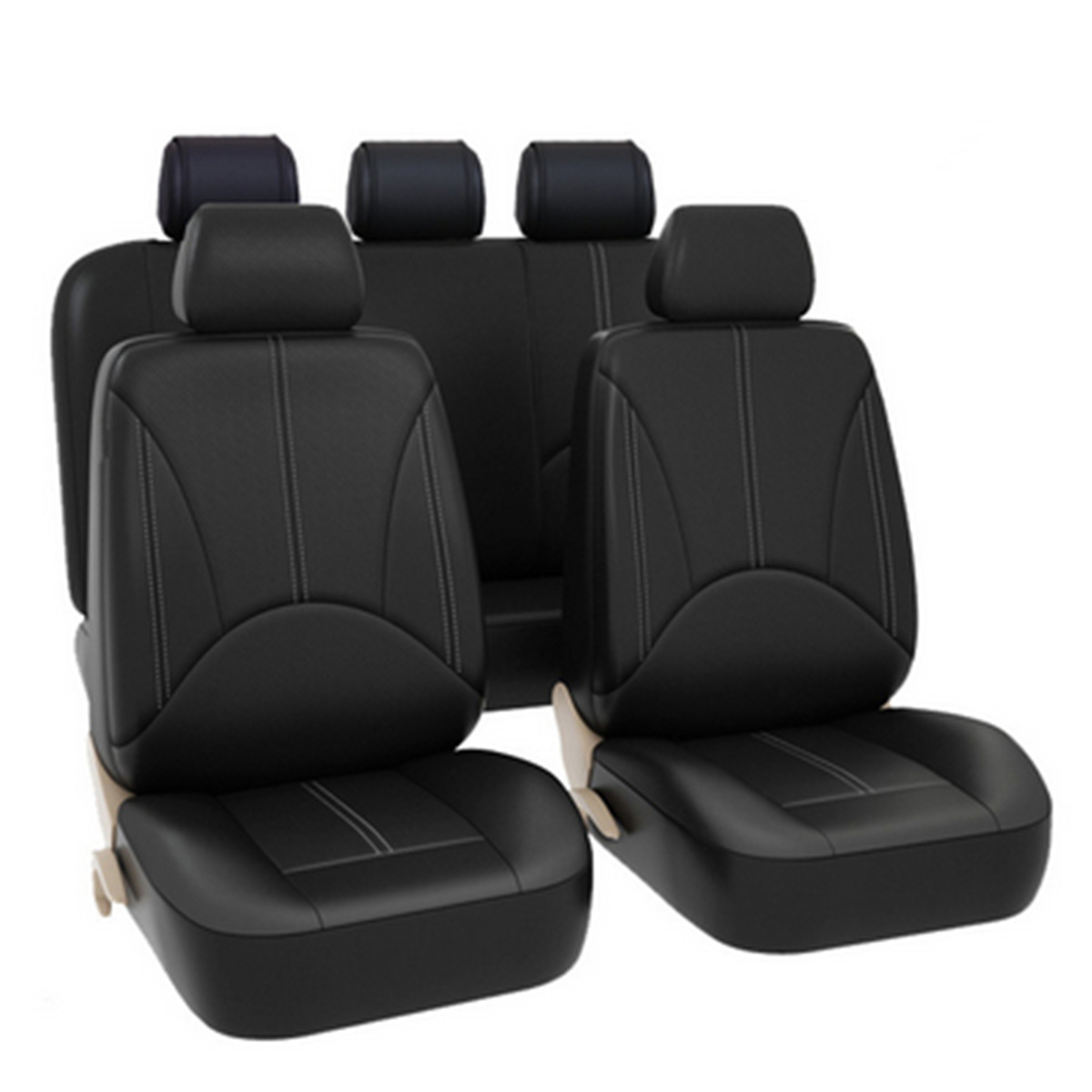 PU Car Auto Seat Cover Universal Front Back Head Rest Protector Wear resistant Will Not Fall Off