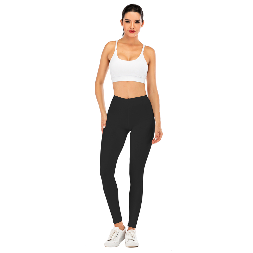 Brand Sexy Women Black Legging Fitness leggins Fashion Slim legins High Waist Leggings Woman Pants 4