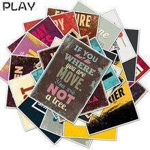 25 قطعة تحفيزية الطباعة الحياة يقتبس يوميات ملصقات مخطط مذكرة سكرابوكينغ ملصق القرطاسية لعب اطفال ملصقات