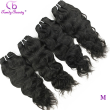 Brazilian Natural Wave 4 Pcs Per Lot Natural Black Color 8  30 Inches Can Be Dyed Non Remy Hair Extensions Trendy Beauty Hair