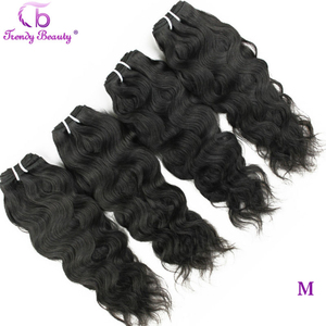 Brazilian Natural Wave 4 Pcs Per Lot Natural Black Color 8- 30 Inches Can Be Dyed Non-Remy Hair Extensions Trendy Beauty Hair