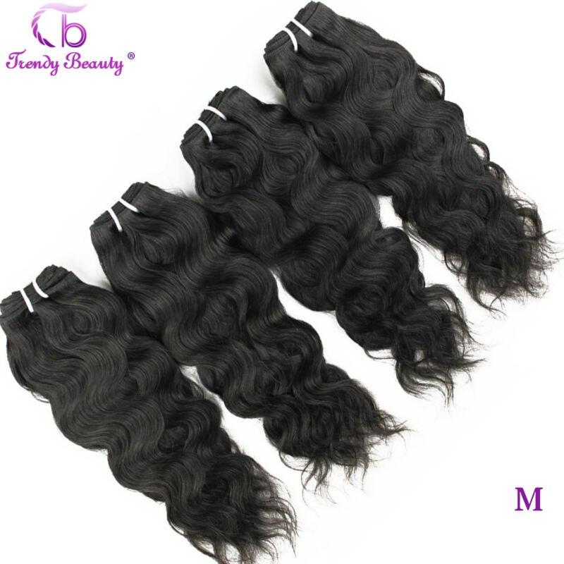 Onda natural brasileira 4 pces do cabelo na moda da beleza por lote cor preta natural 8- 30 polegadas podem ser tingidas extensões do cabelo não remy