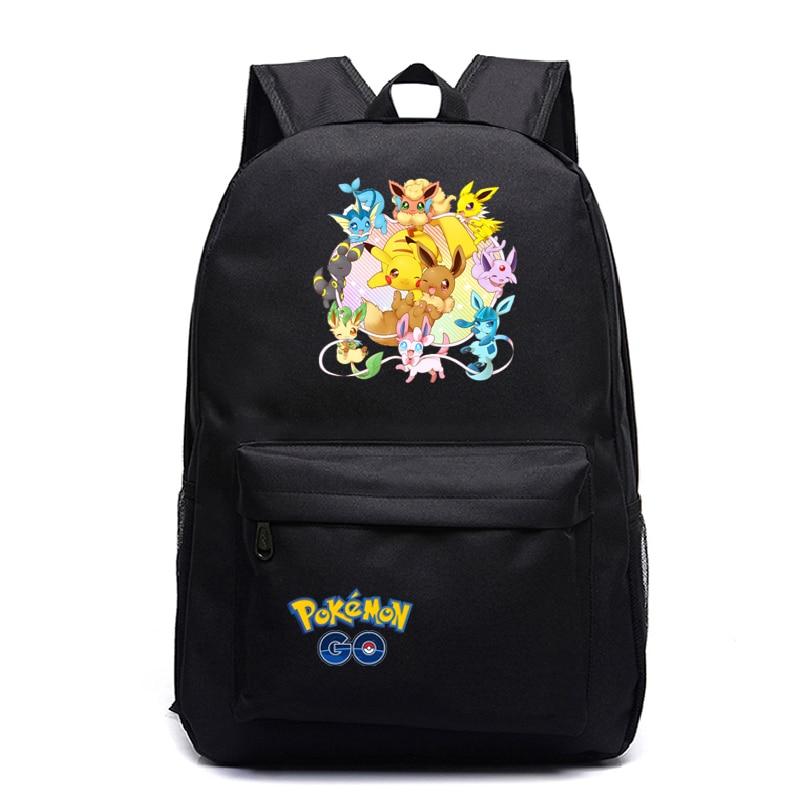 Купить с кэшбэком Pokemon Backpack Pocket Monster School Bag Ash Ketchum/Pikachu School Backpacks Girls Boys mochila Toddler Bag Kids Book Bags