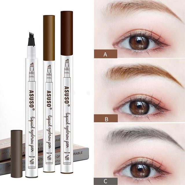 HOT Sale 1Pcs Women Makeup Sketch Liquid Eyebrow Pencil Waterproof Brown Eye Brow Tattoo Dye Tint Pen Liner Long Lasting Eyebrow