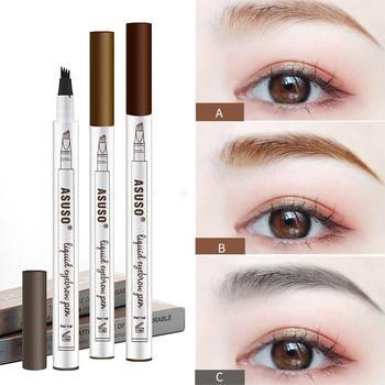 Hot Sale Microblading Eyebrow Tattoo Pen Waterproof Eye Makeup 3 Colors Easy Use Eyebrow Pen Deep Color Pencil Eyebrow Durable