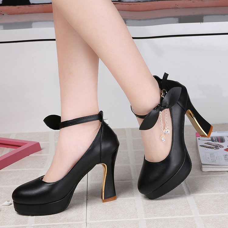 Women Pumps Comfortable Thick Heels Women Shoes Brand High Heels Ankle Strap Women Gladiator Heeled Sandals 8CM Wedding Shoes