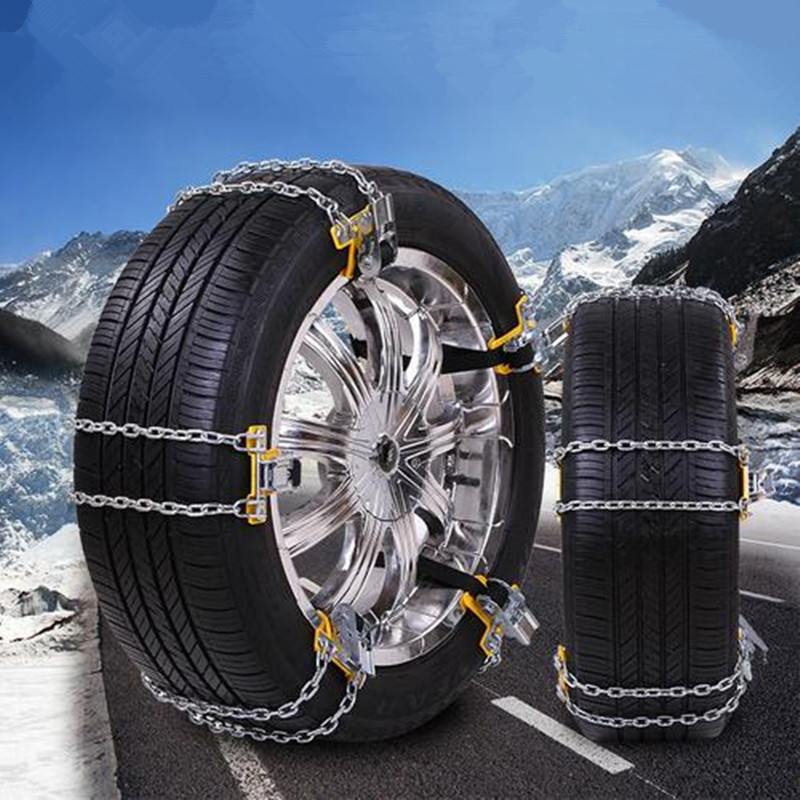 Car Accessories Manganese Steel Wear Resistant And Durable Double Universal Metal Snow Chain Fit For Snow Road And Sand Road