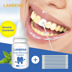 LANBENA Powerful Tooth Clean Essence Oral Hygiene Plaque Stains Remover Whitening Serum Teeth Bleaching Dental Tools Toothpaste