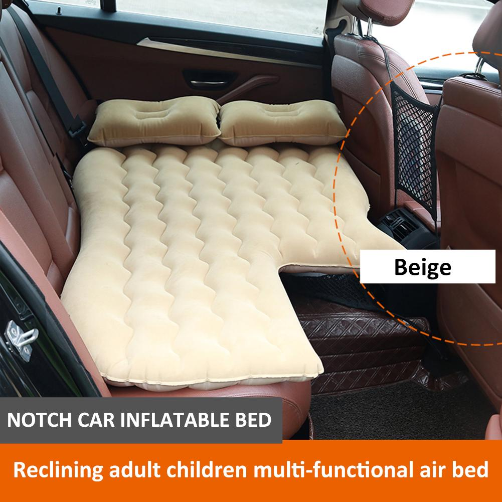Portable Inflatable Car Air Mattress With Pump Travel Camping Vacation Back Seat Blow-Up Sleeping Pad Truck SUV Minivan Compact image