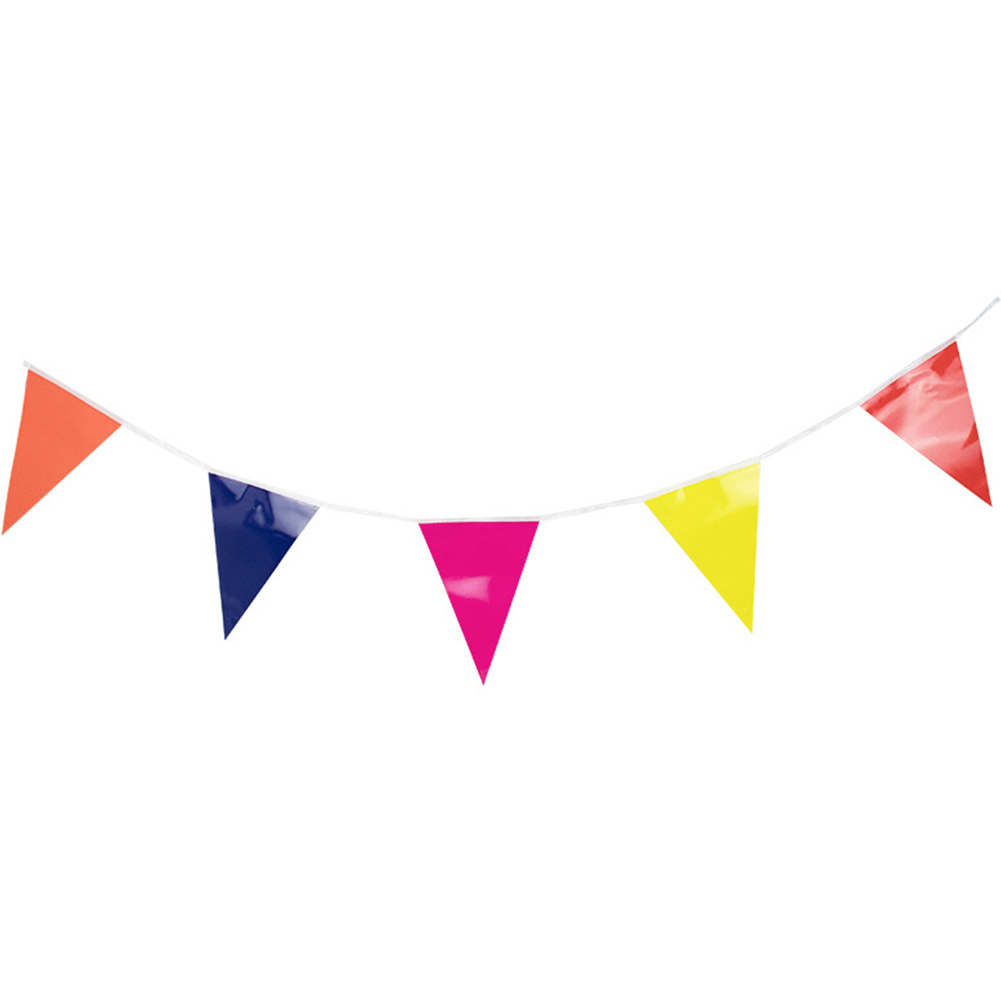 Graduation DIY Gifts Garden Wall Party Decor Buntings Holiday Hanging Flag Banner Solid Pennant Home Festival