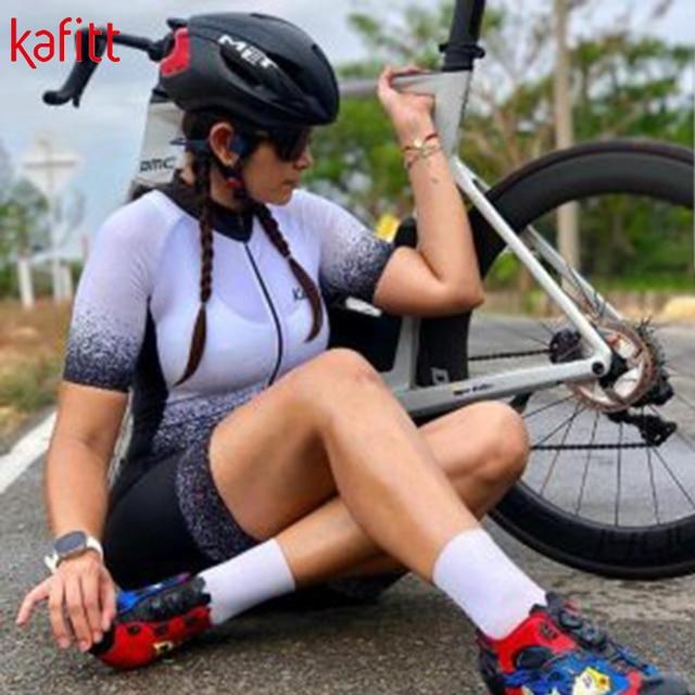 Kafitt 2020 pro camisa de ciclismo profissional das mulheres triathlon casual wear maillot ropa ciclismo macacão verão 5
