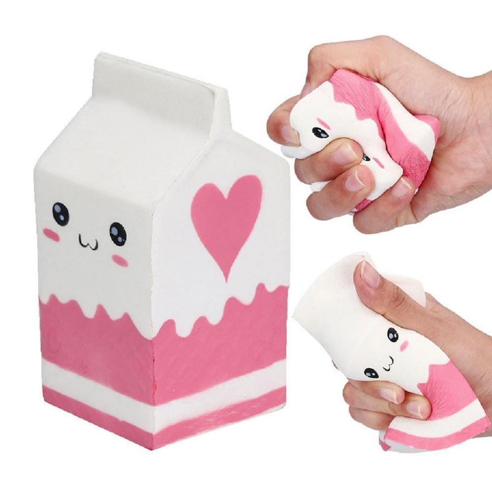 Squishy Simulation Slow Pu Cooking Yogurt Souptoys Decompression Milk Container Super Soft Slow Rising Squeeze Children Toys