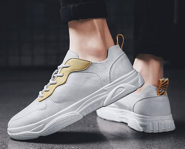 2019 lente nieuwe mode koele mannen jonge man lace up microfiber lederen casual schoenen mannen trend schoenen loafers