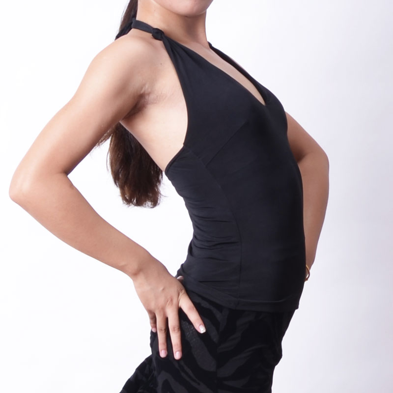 New Latin Dance Top Women Black Shirts Sexy Back Women Ballroom Dance Top Modern Dancing Clothes Women Latin Dance Costume BI002