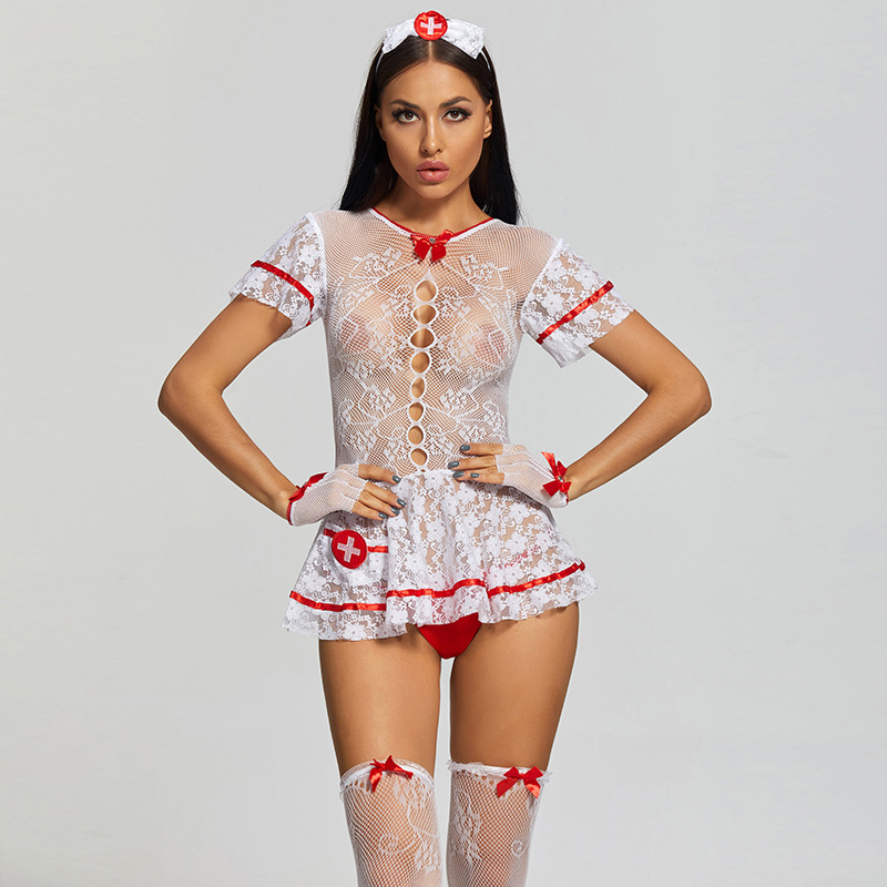 H66caacd6a72f4656921da503545680b7r Dress Sexy Nurse Identity V Cosplay Lingerie Women Uniform Set Role-Playing Sex Costumes Surgical Caps Female Nurse Accessories
