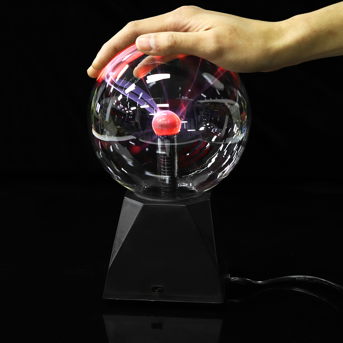 8 Inch Plasma Lamp Plasma Ball Touch Magic Lighting Sphere Lamp Crystal Table Lamp Novelty Night Color Part Lighting
