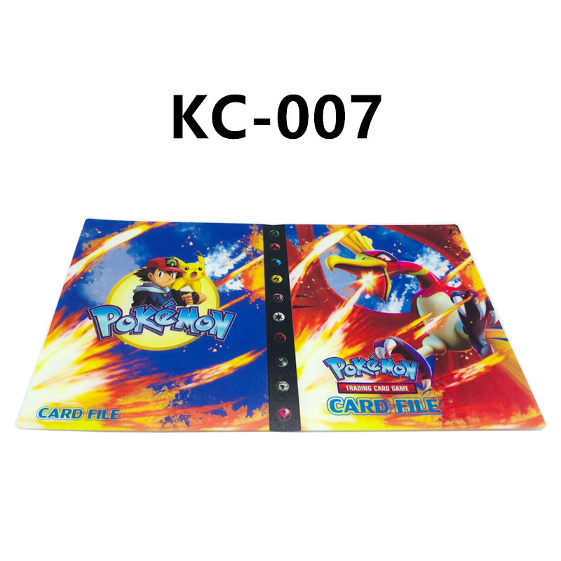240 шт. держатель Альбом 24 стиля Покемон карты Альбом Книга мультфильм аниме карманный монстр игрушка Пикачу для детей подарок - Цвет: KC-007