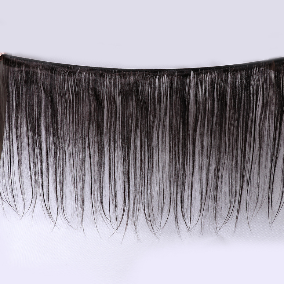 Image 3 - 3 Bundles With Lace Frontal Brazilian Straight Human Hair Weave With 13x4 Lace Closure Remy Jarin Hair Extension Natrual Color-in 3/4 Bundles with Closure from Hair Extensions & Wigs