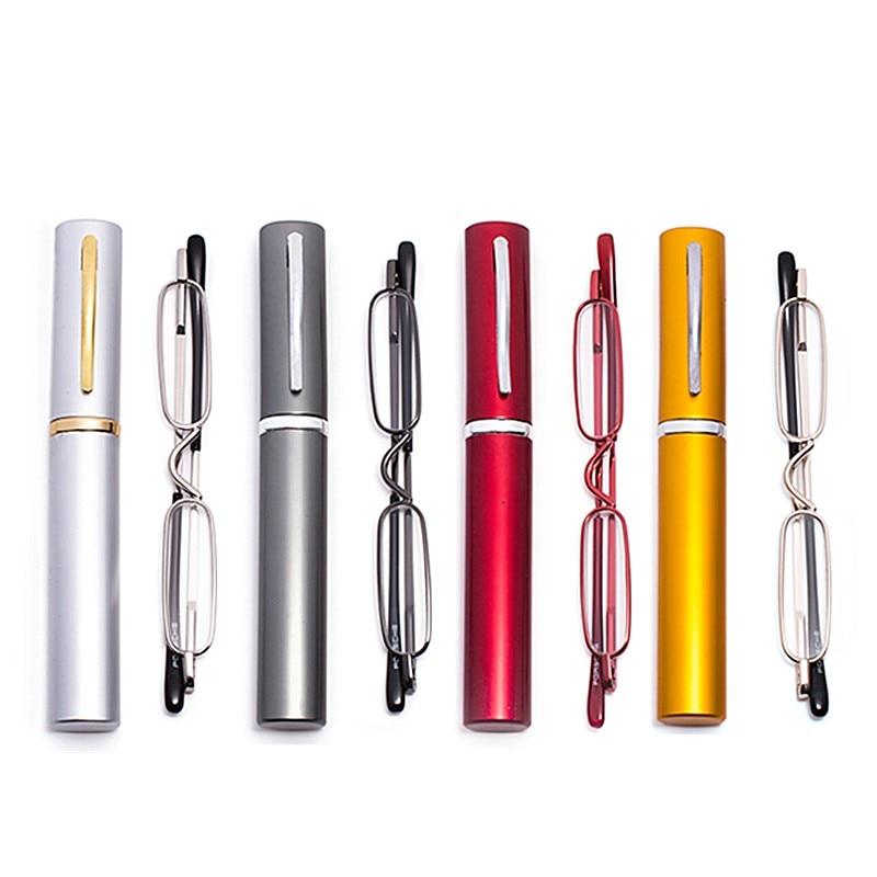 PANDER Fashion Reading Glasses Mini Folding Pocket Reader Foldable Lightweight +1.0 To +4.0 Presbyopia Hyperopia Glasses Gafas