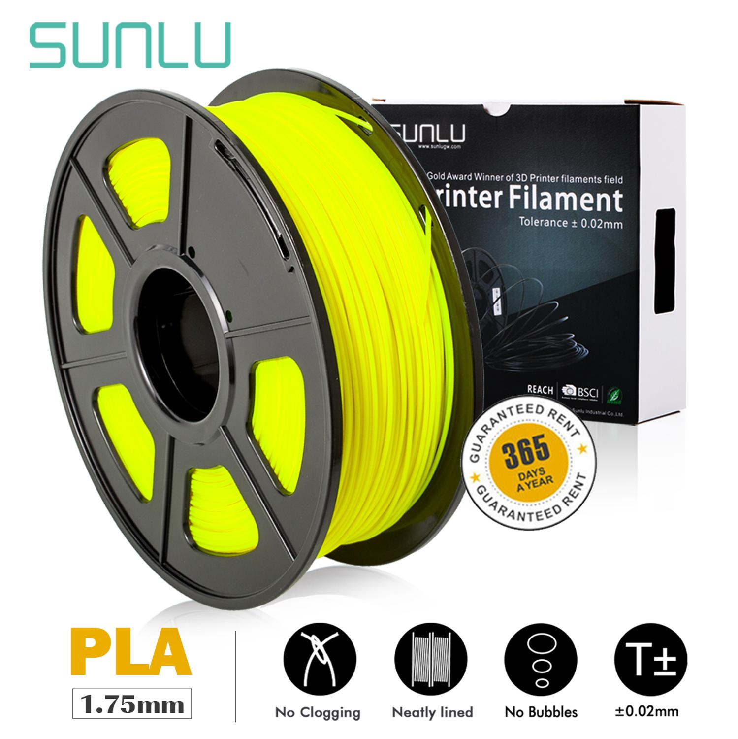 SUNLU 1kg 1.75mm PLA Filament For 3D Printing With 0.02mm Tolerance And No Bubble Pla Harmless Material 3D Print