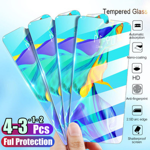 1/2/3/4 Pcs Tempered Glass For Huawei P40 P30 Lite P20 Pro P Smart 2019 Screen Protector Protective Glass For Huawei Mate 30 20(China)