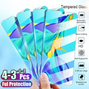 Image 1 - Tam kapak temperli cam için Huawei P40 P30 Lite P20 Pro P akıllı 2019 ekran koruyucu koruyucu cam için Huawei mate 30 20