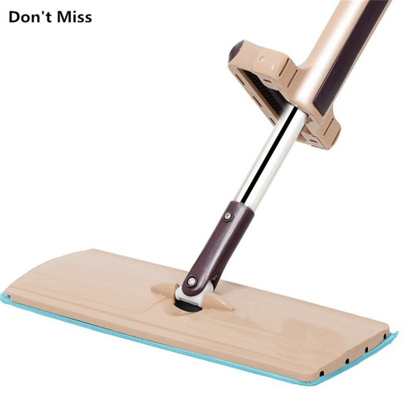 Mop plana livre mão de lavagem aço inoxidável lidar com spin mop casa escritório ferramenta limpeza microfibra almofada piso cozinha limpo