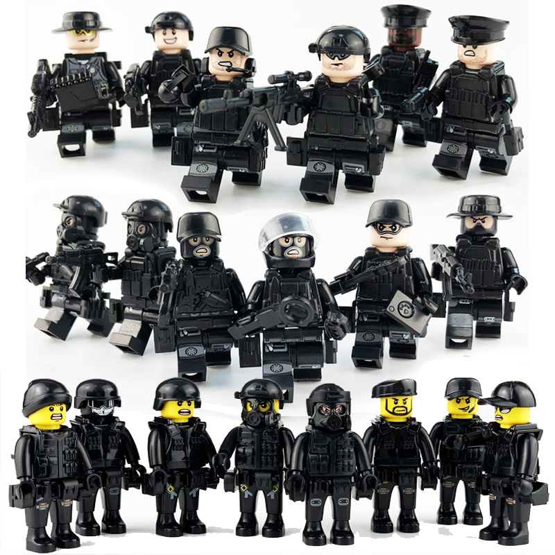 Weapon Military Special Forces Soldier SWAT Bricks Figures Building Blocks Toy