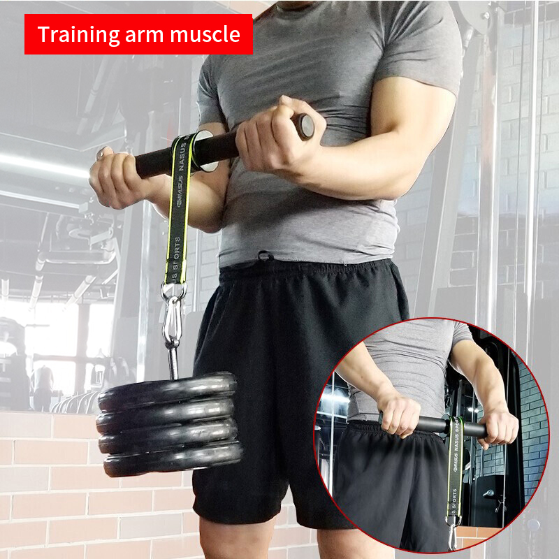 PG Gym Fitness Forearm Trainer Strengthener Hand Gripper Strength Exerciser Weight Lifting Rope Waist Roller Fitness Equipment 1