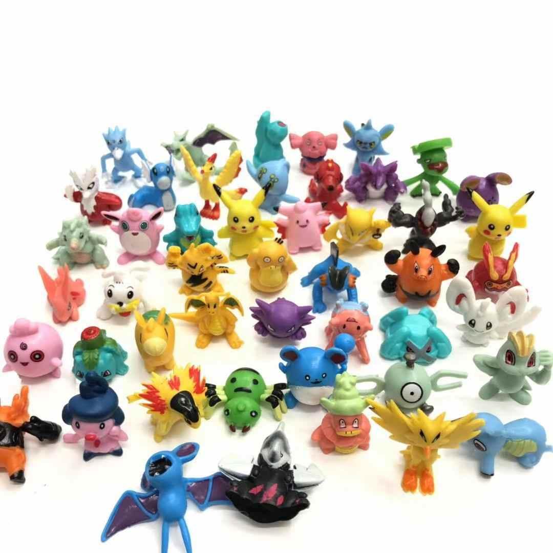 TAKARA TOMY POKEMON Angka 144 Gaya Yang Berbeda 24 Lembar/Tas Boneka Baru Action Figures, Mainan untuk Carta Pokemon Koleksi Boneka