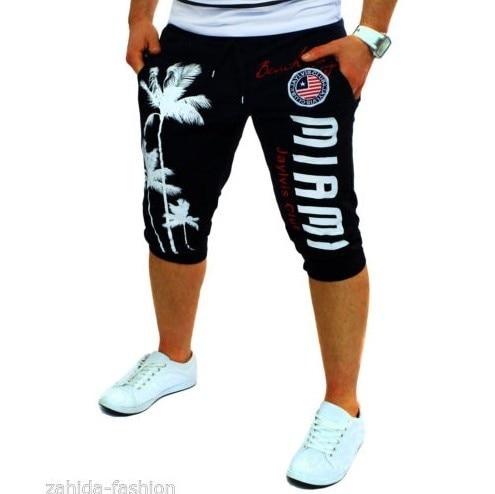 Moda Casual imprimir hip hop calções 5