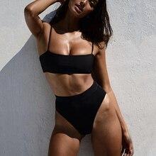 Sexy Bikinis Swimsuit Padded Biquini Push-Up Ztvitality High-Waist Hot-Sale Solid Women