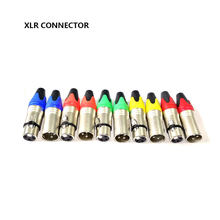 1set 3 Pin XLR Plug Jack Male / Female Microphone Connector MIC Adapter XLR Cable Termininal Audio Wire Connector 5 Colors