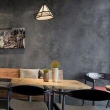 Retro Retroสีเทาซีเมนต์PVCไวนิลวอลล์เปเปอร์สำหรับผนังห้องนั่งเล่นBar Cafeร้านอาหารร้านเสื้อผ้าพื้นหลังวอลล์เปเปอร์
