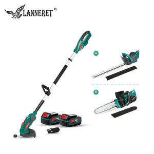 Hedge-Trimmer Chain-Saw Garden-Tools-Set Telescopic-Pole Cordless LANNERET 20V with 5-In-1