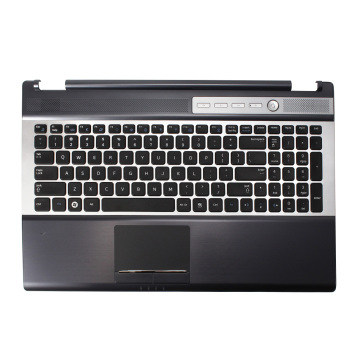 FOR Samsung RF510 RF511 Laptop Keyboard With C Shell Touch Pad Speaker US English