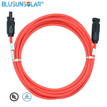 50 Pcs /Lot Solar Cable  Extension 1 Meter Kit With SOLAR PV Connectors 4mm2 (12AWG) Solar Panel Cable LJ0160