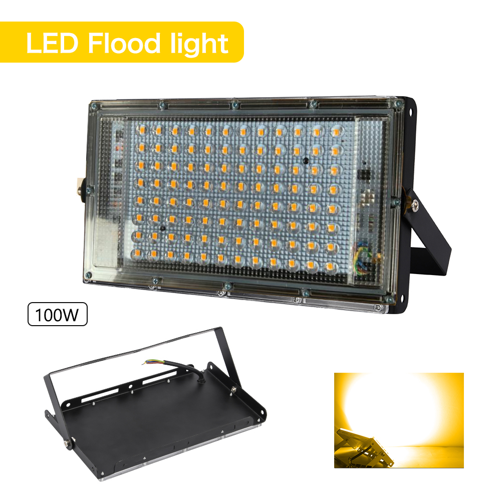 100W Led Flood Light AC 220V 230V Outdoor Floodlight Spotlight IP65 Waterproof LED Garden Wall Street Lamp Landscape Lighting