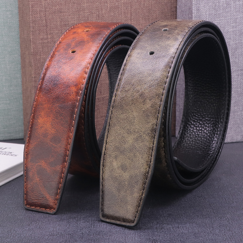 men luxury brand genuine leather ceinture homme full grain leather fashion Waist