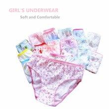 20 adet/grup 100% pamuklu külot kızlar çocuklar kısa külot çocuk iç çamaşırı çocuk şort külot kızlar hediyeler takım elbise 1 12years