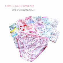 20pcs/Lot 100% Cotton Panties Girls Kids Short Briefs Children Underwear Child  Shorts Underpants Girls Gifts Suit 1 12years