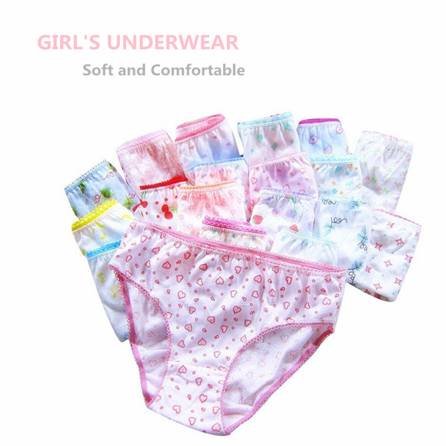 20pcs/Lot 100% Cotton Panties Girls Kids Short Briefs Children Underwear Child  Shorts Underpants Girls Gifts Suit 1 12years